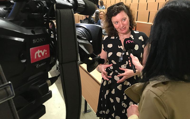 Turi King interviewed RTV television channel